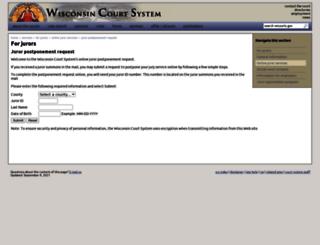 juryrequest.wicourts.gov screenshot