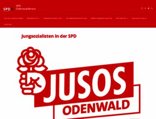 jusos-odenwald.de screenshot