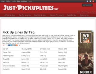 just-pickuplines.net screenshot