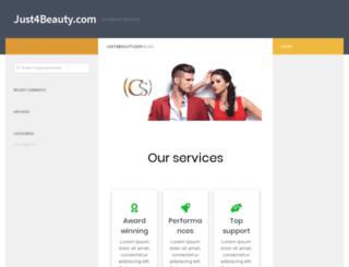 just4beauty.com screenshot
