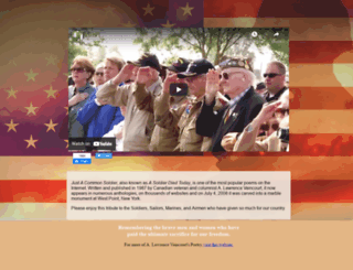 justacommonsoldier.com screenshot