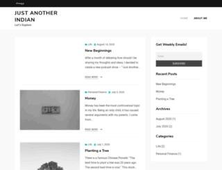 justanotherindian.com screenshot