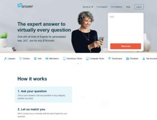 justanswer.com screenshot
