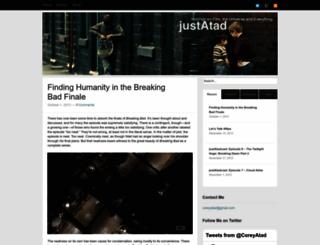 justatad.wordpress.com screenshot