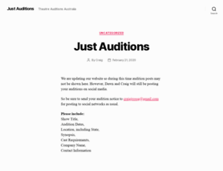 justauditions.com screenshot