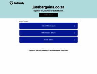 justbargains.co.za screenshot