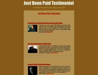 justbeenpaidtestimonial.blogspot.com screenshot