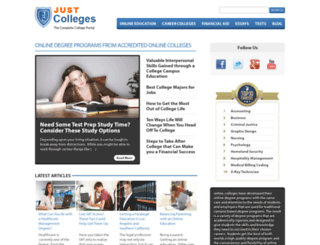 justcolleges.com screenshot