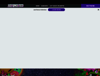 justdancegame.com screenshot