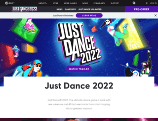 justdanceworld.com screenshot
