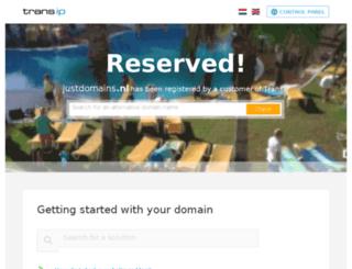 justdomains.nl screenshot