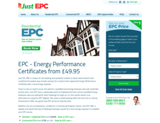 justepc.co.uk screenshot