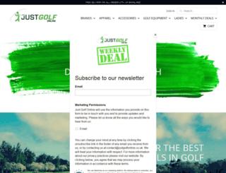 justgolfonline.co.uk screenshot