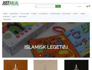 justhalal.dk screenshot