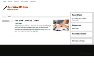 justhirewriters.com screenshot