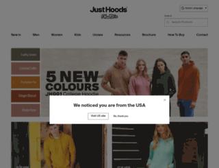 justhoods.eu screenshot