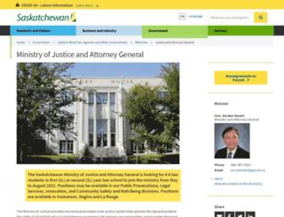 justice.gov.sk.ca screenshot