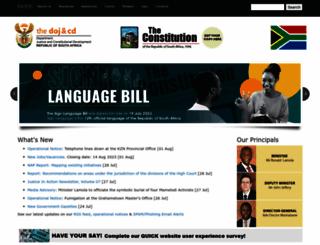 justice.gov.za screenshot