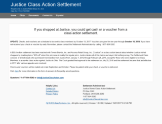 justiceclassaction.com screenshot