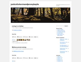 justiceforkevinandjenveybaylis.wordpress.com screenshot