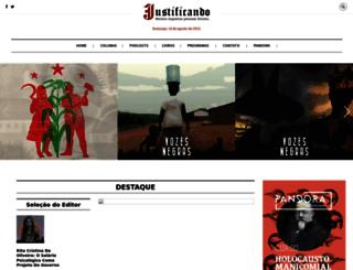 justificando.com screenshot