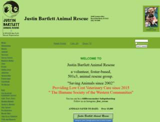justinbartlettanimalrescue.org screenshot