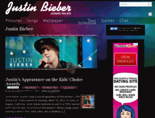justinbieber.info screenshot