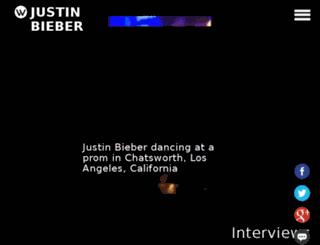 justinbieber.waywire.com screenshot