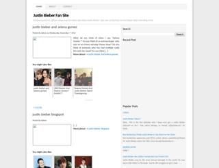 justinbieberfansite212.blogspot.com screenshot