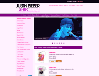 justinbiebershirt.com screenshot