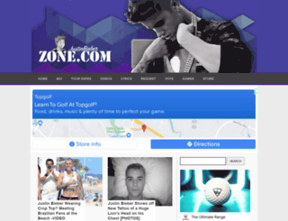 justinbieberzone.com screenshot