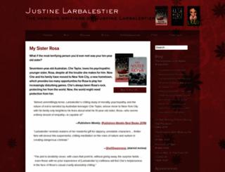 justinelarbalestier.com screenshot