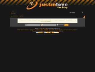 justinlove.net screenshot
