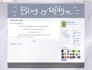 justinridge.blogspot.com screenshot