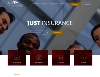 justinsurancebrokers.com screenshot