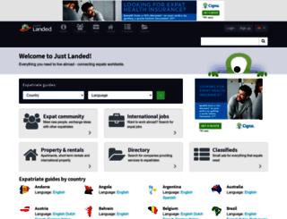 justlanded.co.in screenshot