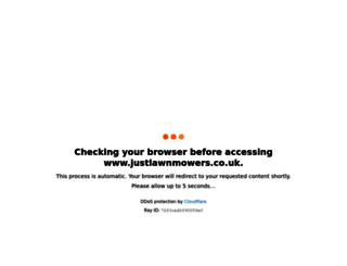 justlawnmowers.co.uk screenshot