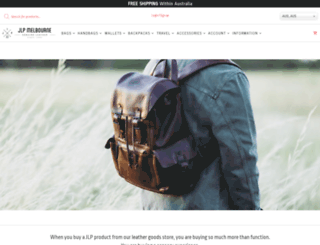 justleather.com.au screenshot