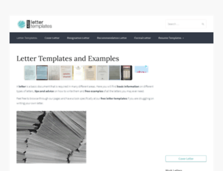 justlettertemplates.com screenshot