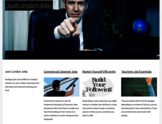 justlondonjobs.co.uk screenshot