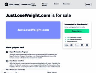 justloseweight.com screenshot