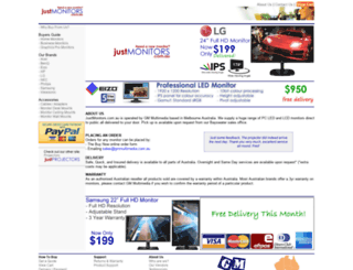 justmonitors.com.au screenshot
