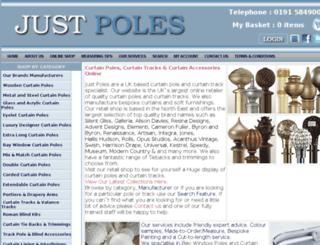 justpoles.co.uk screenshot