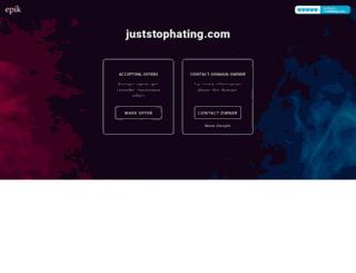 juststophating.com screenshot