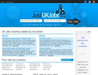 justukjobs.co.uk screenshot