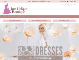 justuniqueboutique.com screenshot