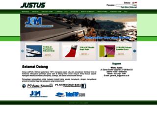 justus.co.id screenshot