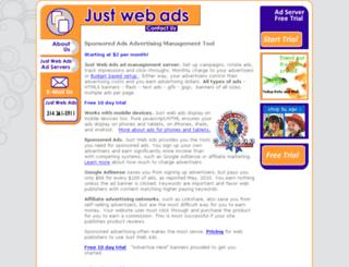 justwebads.com screenshot