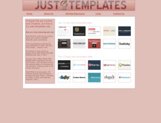 justwebtemplates.com screenshot