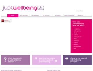 justwellbeing.co.uk screenshot